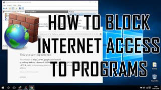 Block or Allow Programs Accessing Internet using Windows Firewall - Windows 10 Explore
