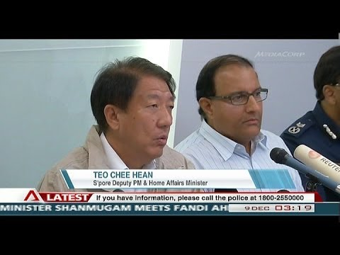 Riot in Singapore's Little India (with press conference coverage) -  09Dec2013 @ 0300Hr