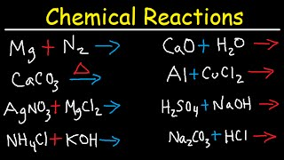 chemical reactions combination decomposition combustion single double displacement chemistry