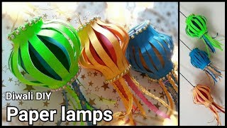 Paper Lamps || Diwali Decoration Ideas || Lanterns || The Blue Sea Art