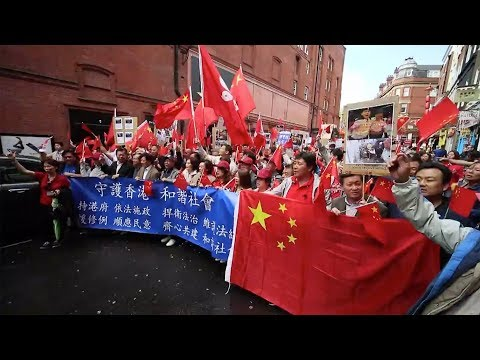 Chinese Expatriates Rally In London, Calling For Restoration Of Peace