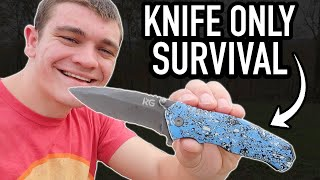 SOLO Survival Challenge! (Knife ONLY)