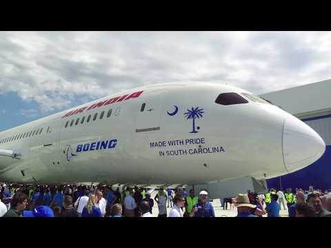Boeing South Carolina First 787 Dreamliner Rollout Ceremony