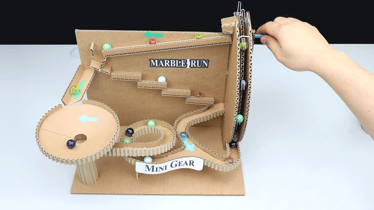 Cardboard Marble Run Diy