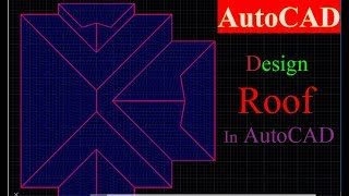 How to making Roof Plan in AutoCAD 2D