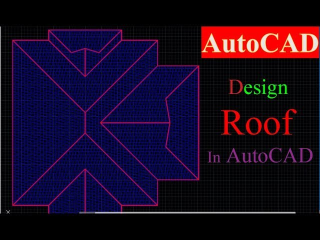 How To Making Roof Plan In Autocad 2d Youtube