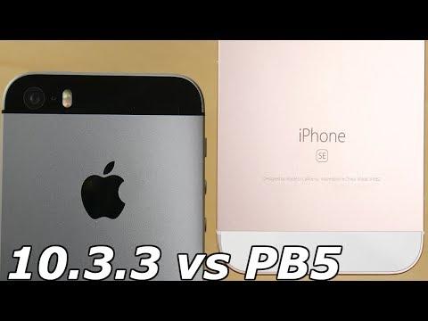 iPhone SE iOS 10.3.3 vs iPhone SE iOS 11 Public Beta 5!