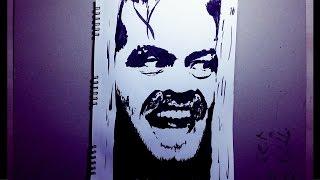 How to draw Jack Nicholson