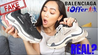 BALENCIAGA TRIPLE S - FAKE VS REAL - IOFFER HAUL / REVIEW
