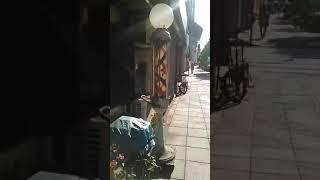 北区 王子 大和理容院のサインポール ダブルスターサイン(内側セルなし)