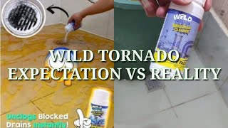 wild tornado expectation vs reality wild tornado sink and drain cleaner