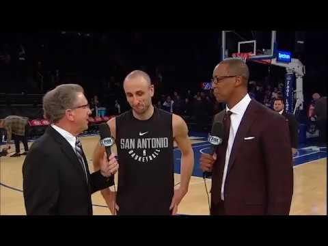 Reportaje Manu Ginóbili luego de su partido frente Knicks pura magia