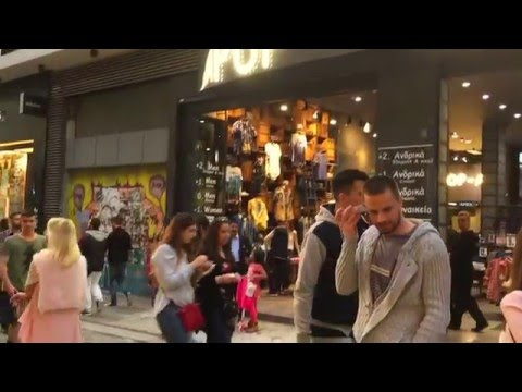 Ermou Street - One Of The Most Important Shopping Districts In Athens