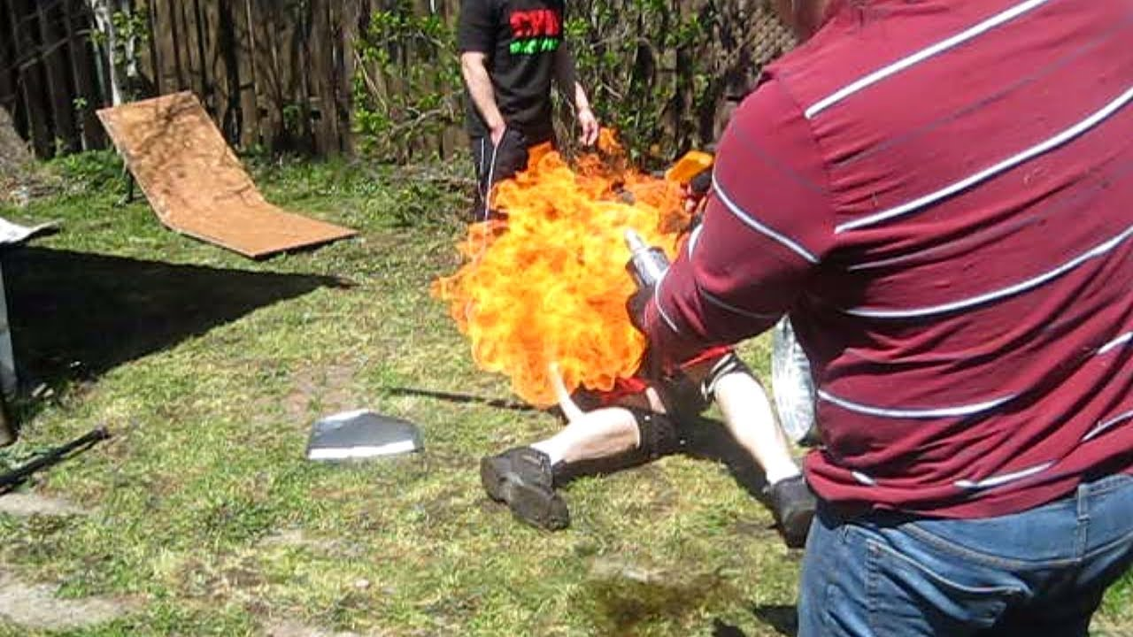 pyro match agent exile vs the bruiser chw backyard wrestling