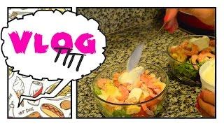 VLOG ПП: Овсяные конфетки и Салат с креветками! ✩7 день✩