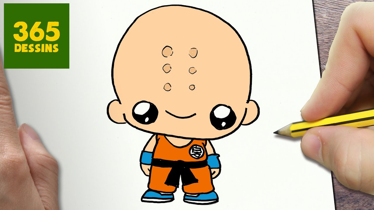 Comment dessiner krilin kawaii tape par tape dessins kawaii facile youtube - Dessin dragon ball z facile ...