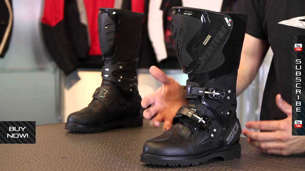Sidi B2 Gore-Tex Motorcycle Boots - TheVisorShop - YouTube