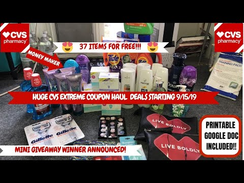 HUGE CVS EXTREME COUPON HAUL DEALS STARTING 9/15/19|37 ITEMS FOR FREE|LOTS OF FREE & CHEAP 😍
