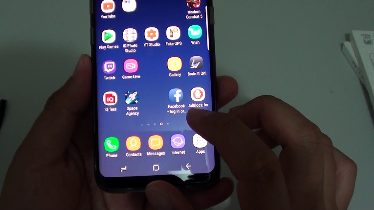 Samsung Galaxy S8 How To Enable Disable Internet App Quick Menu Youtube