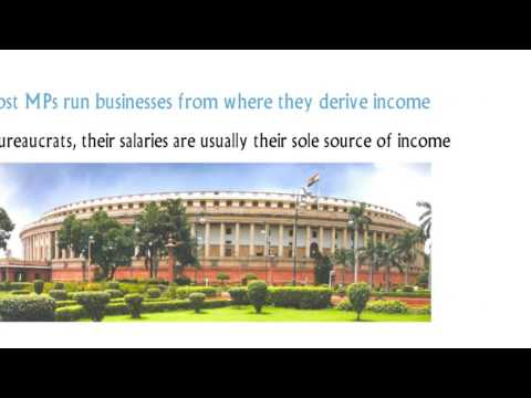 How much Indian Member of Parliament(MPs) earn officially