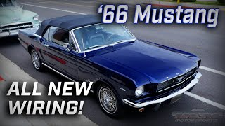 1966 Mustang Convertible Gets All New Wiring and Fitech EFI