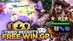 REDDIT'S FREE WIN ON-HIT GANGPLANK! DOES IT WORK? | Teamfight Tactics