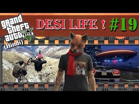GTA 5 (Hindi) Desi Life #19 - Udta Cycle!! UFO Race (GTA Online)