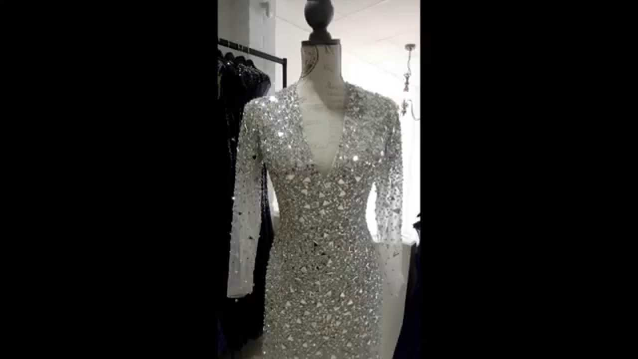 9028 Silver Evening Dress from Cupid Couture, Cheltenham - YouTube