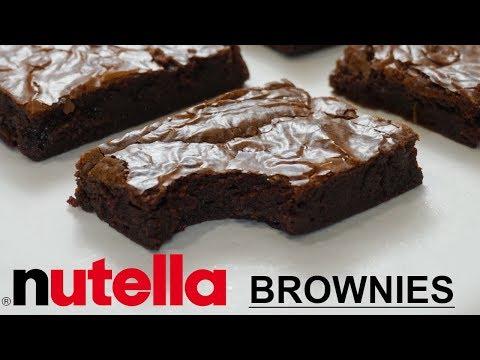 Nutella Fudge Brownies Recipe! Nutella Brownies