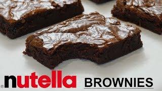 5 Ingredient Nutella Fudge Brownies Recipe! Nutella Brownies