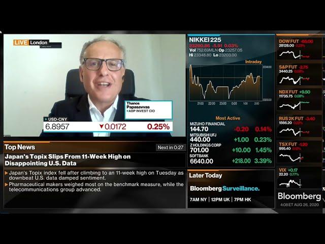 26 August 2020 Thanos Papasavvas, Market Update on Bloomberg