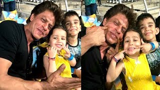 Shahrukh Khan's CUTE Video Playing With MS Dhoni's Daughter Zeva At IPL Match | KKR, CSK