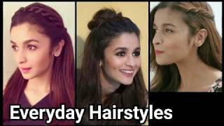 Everyday QUICK EASY Hairstyles for medium long hair//Indian hairstyles //Alia bhatt hairstyles