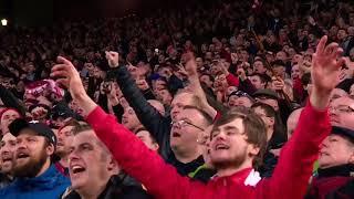 The Kop sings Mo Salah song against Roma