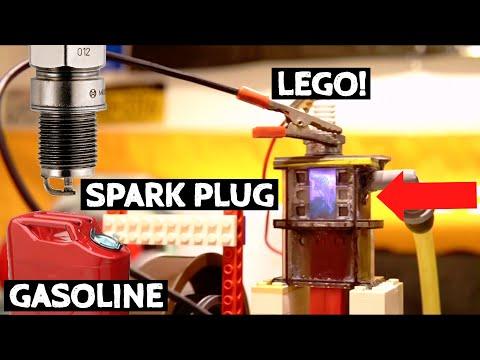 Working LEGO Combustion Engine! (2 Stroke) Version 3!!