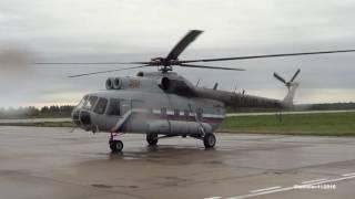 МИ-8ПС RF-19000 Чистый Запуск и взлет в дождь. Кубинка. Армия-2016.Воскресенье 11.09.2016