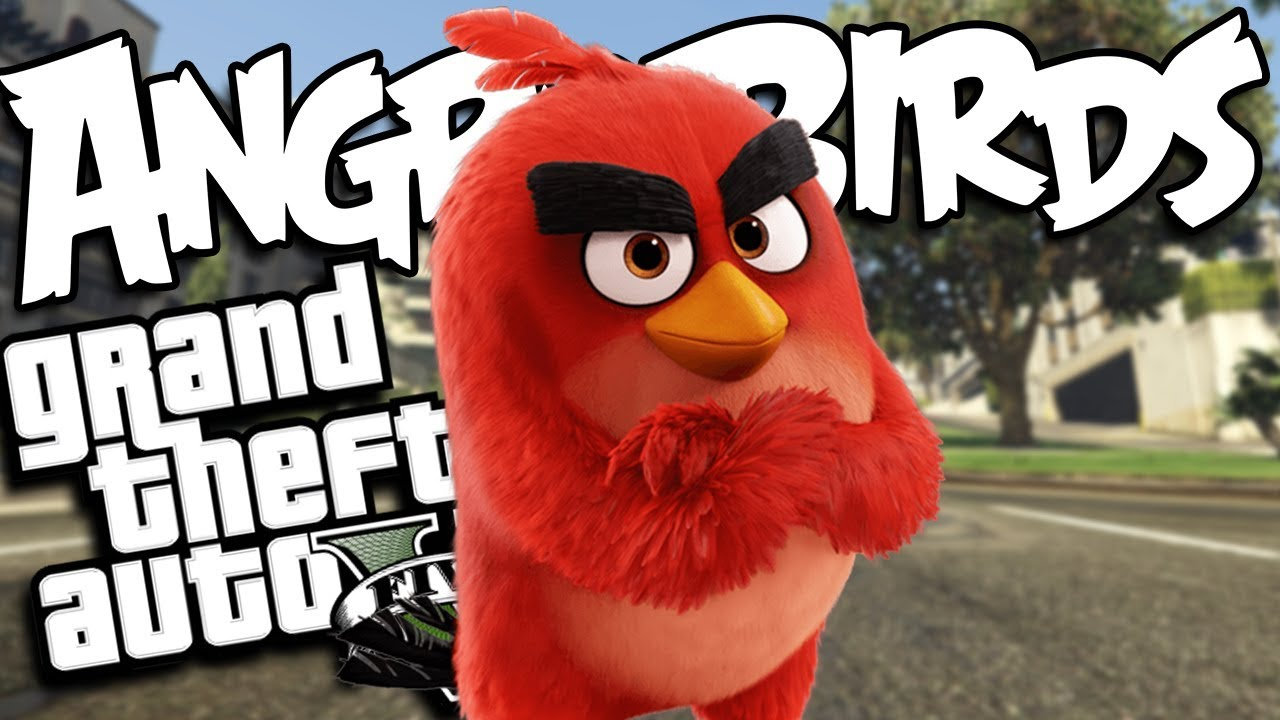 The Angry Birds Return MOD (GTA 5 PC Mods Gameplay)