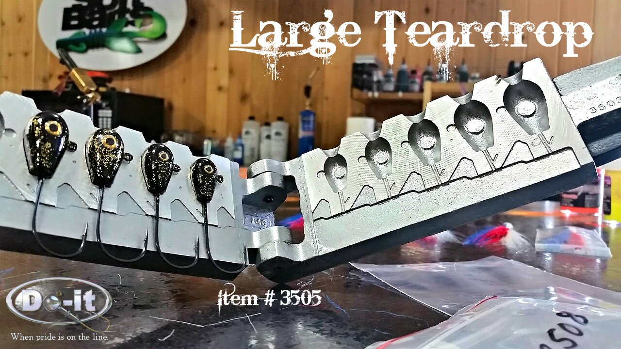 New do it large teardrop jig head mold youtube new do it large teardrop jig head mold solutioingenieria Images