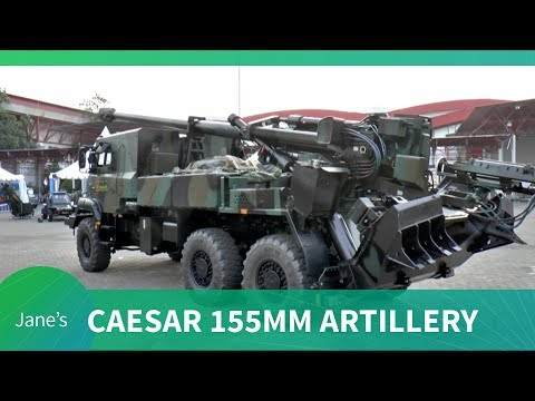 Indo Defence 2018: Nexter Systems CAESAR 155 mm 52 calibre self-propelled artillery system