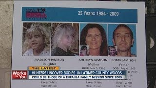 Remains found near where missing family's truck was found in 2009