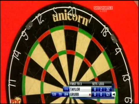 World Championships 2009 - Rd 1 - Phil Taylor v Steve Grubb pt. 2