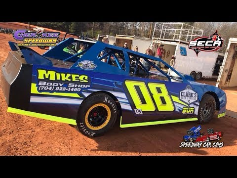 #08 Calob Mclaughlin - SECA Crate - 4-28-18 Cherokee Speedway - In Car Camera