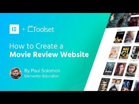 Create a WordPress Movie Review Website with Elementor and Toolset