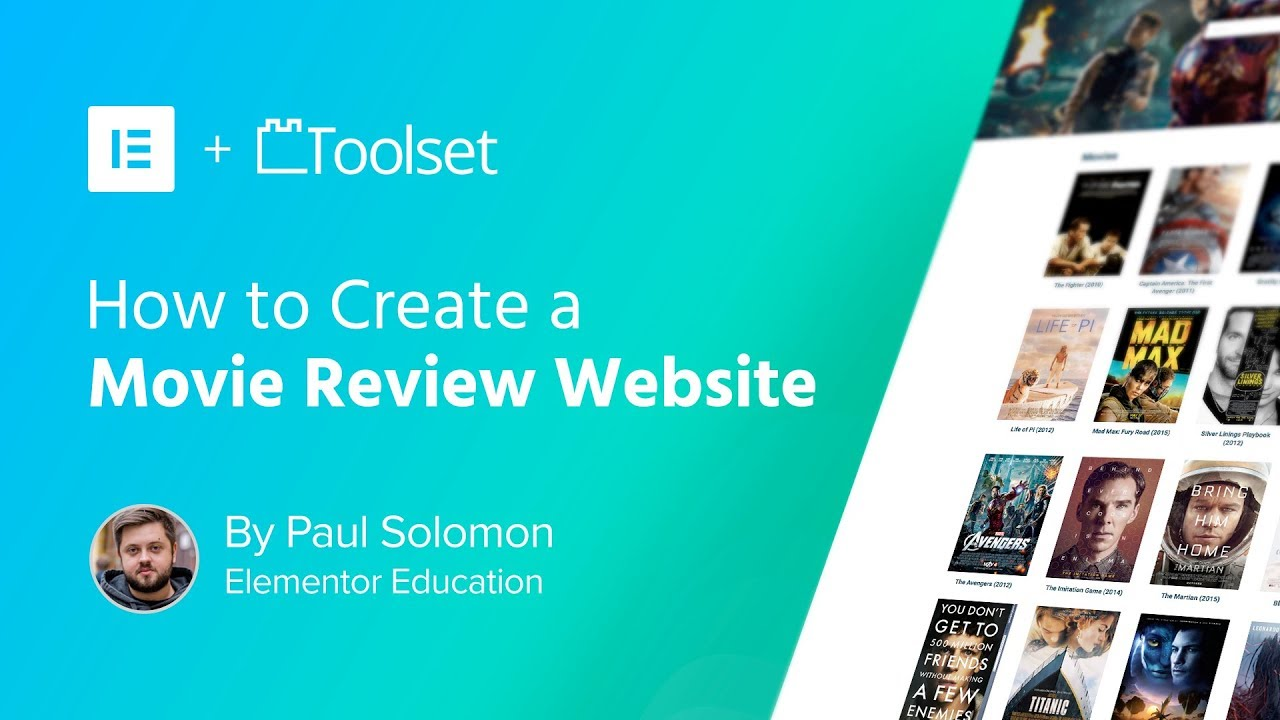 Create A Wordpress Movie Review Website With Elementor And Toolset Youtube