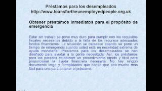 Creditos online para desempleados