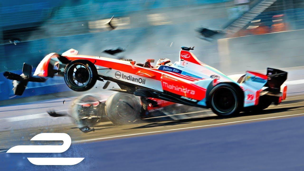 crash compilation all major formula e season 3 crashes youtube