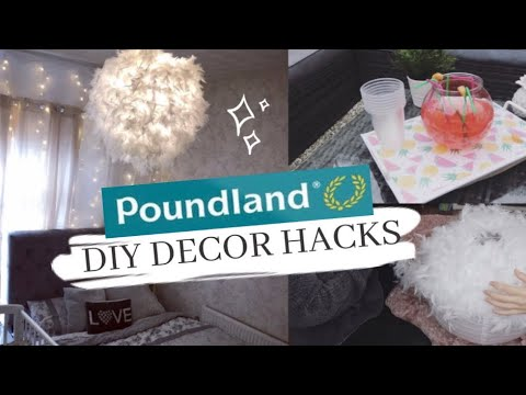 POUNDLAND DIY DECOR HACKS | DIY POUNDLAND HACKS FOR THE HOME | DOLLAR STORE DIY HACKS 2019