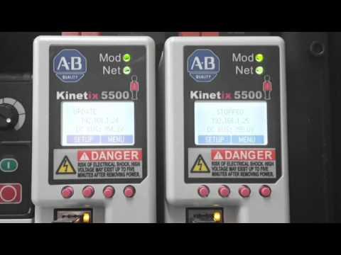 Kinetix 5500 Display While Downloading - YouTube