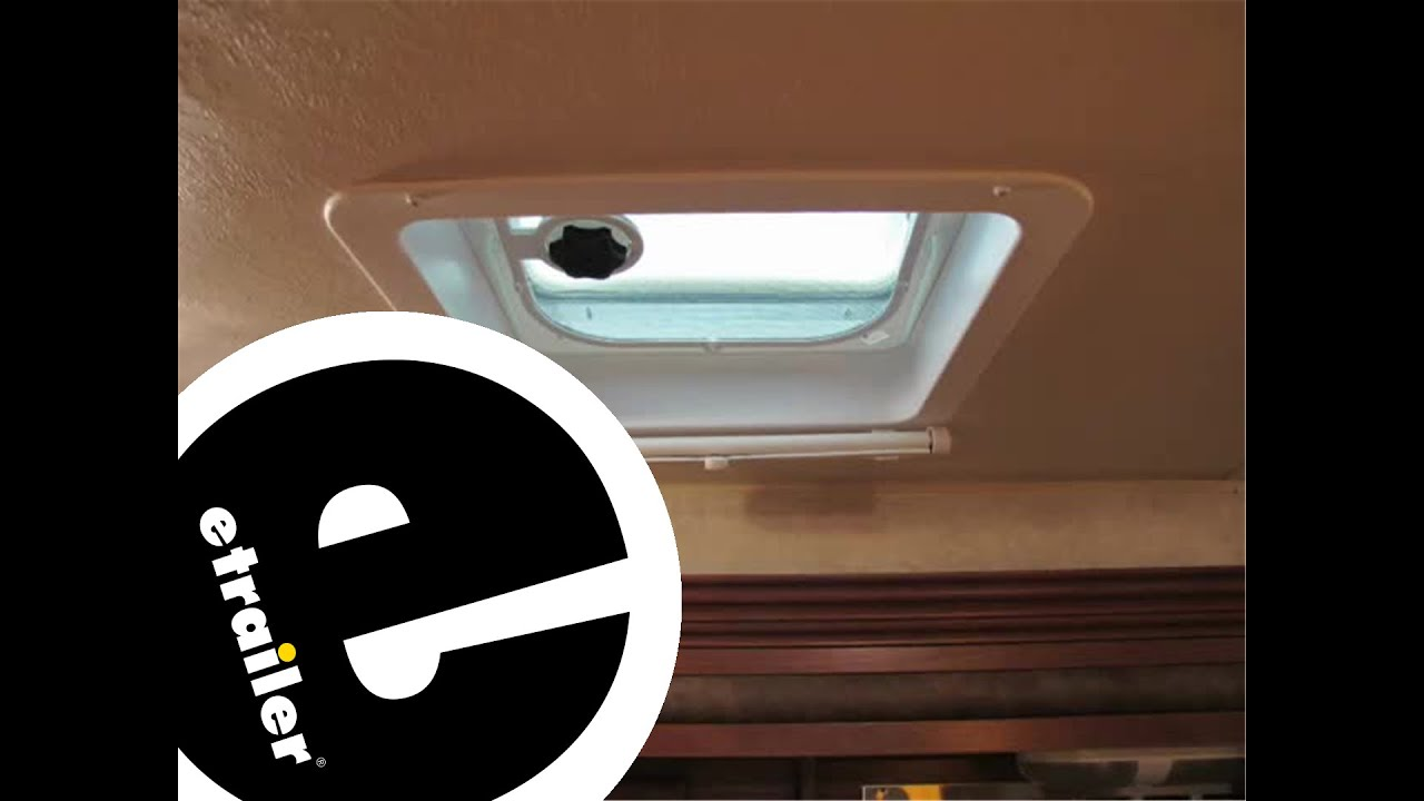 Review Of The Camco Lights Out Retractable RV Roof Vent Shade Review    Etrailer.com   YouTube