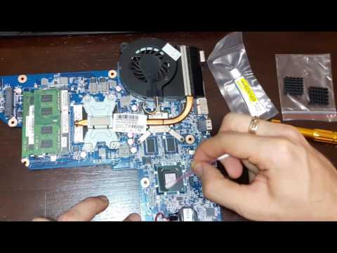 Laptop cooling system upgrade. How to add a heatsink to a chipset without mounts